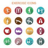 Exercise long shadow icons Stock Photography
