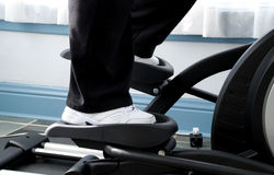 In the exercise machine Stock Photography