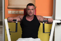 Exercise Machine For Chest Stock Photography
