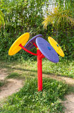 The Exercise Machine in Public Park Stock Photography