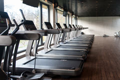 Exercise Machines In A Modern Gym Stock Photography