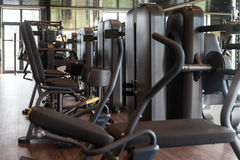 Exercise Machines In A Modern Gym Stock Photo