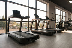 Exercise Machines In A Modern Gym Stock Images