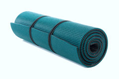 Exercise Mat. Isolated over white background Royalty Free Stock Photos
