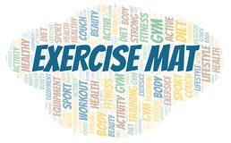 Exercise Mat word cloud. Wordcloud made with text only royalty free illustration