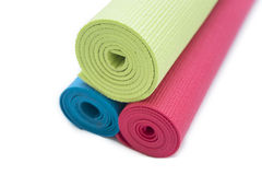 Exercise mats Royalty Free Stock Images