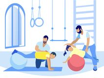 Free Exercise On Fitball For People With Injure Cartoon Stock Photography - 176171562