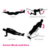 Exercise physical muscle silhouette Royalty Free Stock Photo