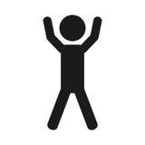 Exercise pictogram icon image Royalty Free Stock Photo