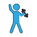 Exercise pictogram icon image Royalty Free Stock Images