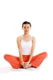 exercise pose relax sitting woman young Στοκ φωτογραφίες με δικαίωμα ελεύθερης χρήσης