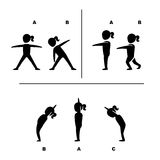 Exercise poses for healthy pictograms illustration Stock Images