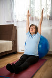Exercise at pregnancy Stock Photo
