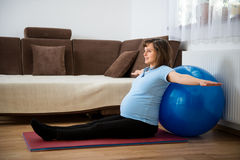 Exercise at pregnancy Royalty Free Stock Photography