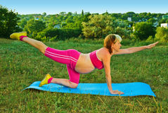Exercise for pregnant Royalty Free Stock Image
