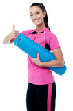 Exercise regularly, stay fit! Stock Images