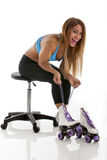 Exercise: Roller Skating stock photos
