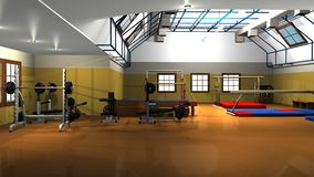 Exercise room equipment Royalty Free Stock Photography