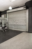 Exercise room with shutters Stock Photography