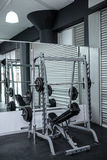 Exercise room with shutters and mirrors Royalty Free Stock Photo
