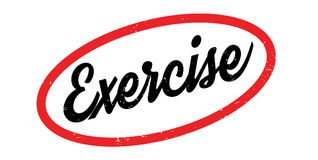 Exercise rubber stamp Royalty Free Stock Photo