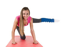 Exercise on rug Stock Image