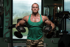 Exercise For Shoulders Dumbbell Lateral Raise royalty free stock images
