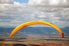 Exercise of the sky  Paragliders Macedo Royalty Free Stock Photo