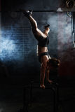 Exercise on sport facilities Royalty Free Stock Images
