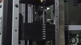 Exercise on Sports Simulator. Motion up and down 4K stock video footage