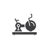 Exercise, Stationary Bike icon vector, filled flat sign, solid pictogram isolated on white Royalty Free Stock Image