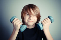 Exercise - strength of youth Royalty Free Stock Photo