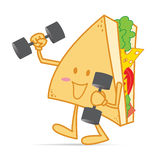 Exercise stronger cute sandwich Royalty Free Stock Photography