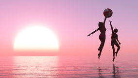 exercise and sunset Royalty Free Stock Image