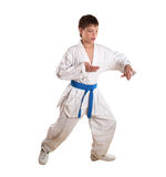 Exercise on taekwondo Royalty Free Stock Photos