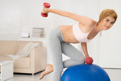 Exercise for triceps Royalty Free Stock Image