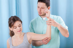 Exercise of upper limb Stock Image