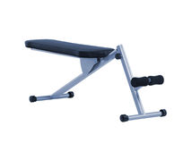 Exercise weight bench. Isolated on white background Royalty Free Stock Photo