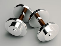 Exercise weights. A pair of dumbbells or excercise weights for fitness and gym concept Royalty Free Stock Image