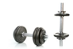 Exercise - weights Stock Photo