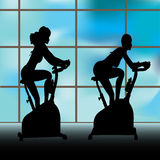 Exercise Window Royalty Free Stock Photography