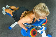 Exercise With Dumbbells Royalty Free Stock Photos