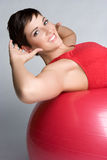 Exercise Woman. Beautiful health fitness exercise woman Stock Photos