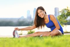 Exercise woman stretching Royalty Free Stock Image