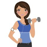Exercise workout woman Stock Image