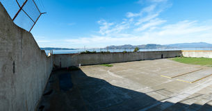 Exercise yard Alcatraz Stock Photo