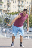 Exercises with a ball. Stock Photography