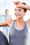 Exercises on the ball Stock Photography
