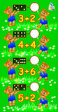 Exercises for children - need to solve examples and to write the numbers in relevant circles. Royalty Free Stock Photo