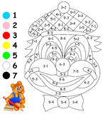 Exercises for children - needs to paint image in relevant colors. Stock Photo